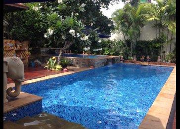 Luxury villa with private beach access