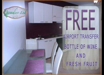 Studio flat free airport pick up