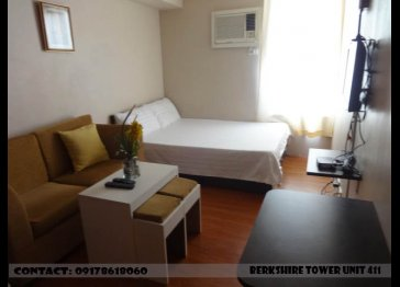 Fully Furnished Studio Unit with Pull Out Bed