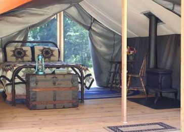 Huckleberry Tent and Breakfast - Sandpoint Idaho Lodging