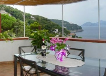 Enchanting villa with sea view of Capri (V434)