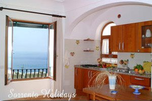 Apartment with sea view in Positano (B206)