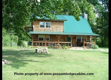 Possum Lodge Luxury Cabin Vacation Home on 64 acres Sleeps 8