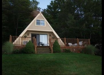 Lakefront A-Frame Cottage