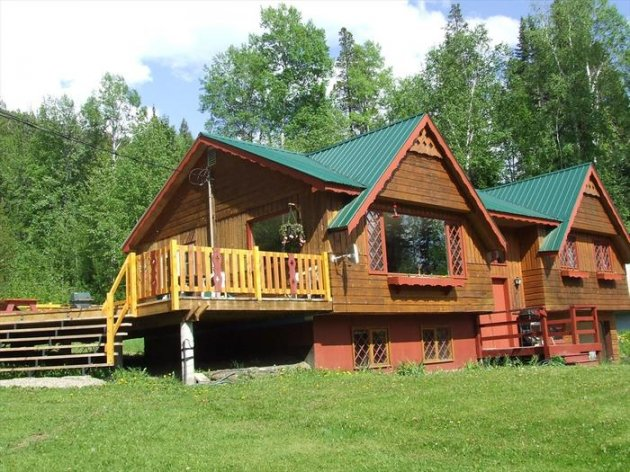 Front of Brich Grove Chalet with new deck